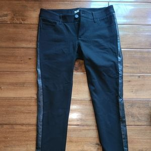 Paige rayon and  leather trim pants size 26